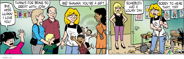 Cartoonist Greg Evans  Luann 2015-07-25 great job