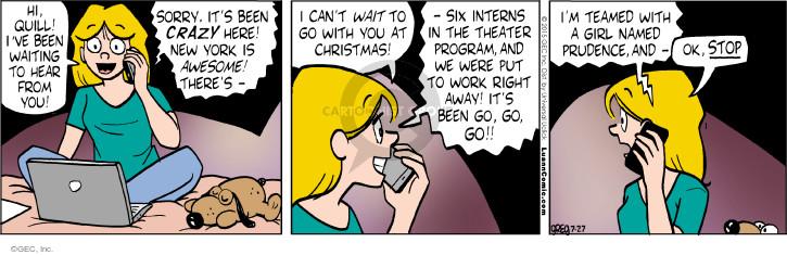 Comic Strip Greg Evans  Luann 2015-07-27 distrust