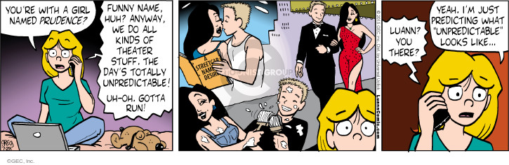 Comic Strip Greg Evans  Luann 2015-07-28 prudence