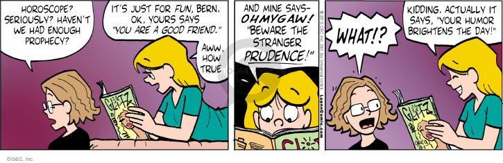 Comic Strip Greg Evans  Luann 2015-08-01 prudence