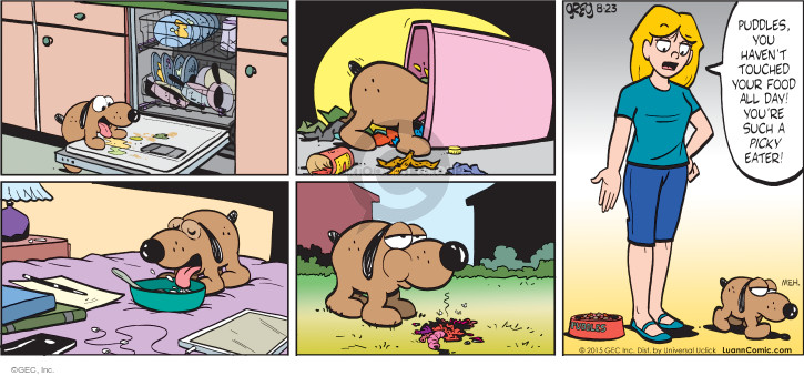 Comic Strip Greg Evans  Luann 2015-08-23 food waste