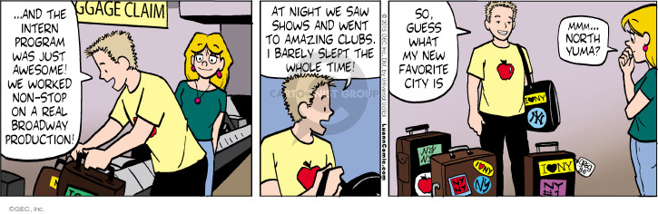 Comic Strip Greg Evans  Luann 2015-08-11 luggage