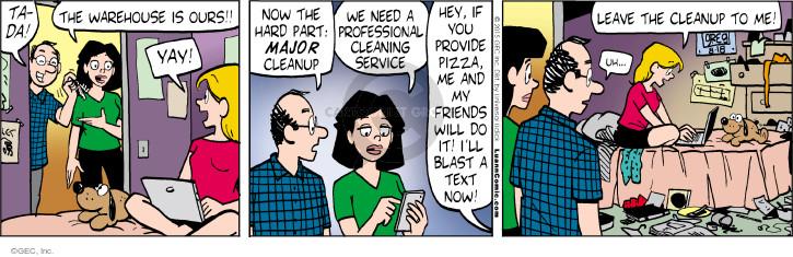 Comic Strip Greg Evans  Luann 2015-08-18 warehouse