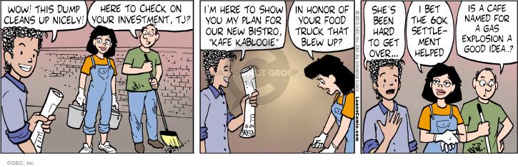 Comic Strip Greg Evans  Luann 2015-08-24 restaurant