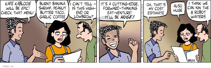 Comic Strip Greg Evans  Luann 2015-08-25 food cost