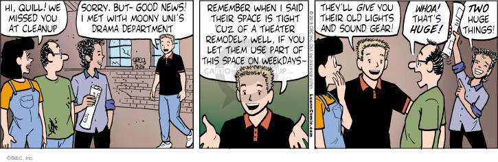 Comic Strip Greg Evans  Luann 2015-08-26 drama