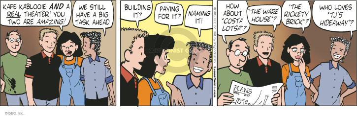 Comic Strip Greg Evans  Luann 2015-08-27 Costa