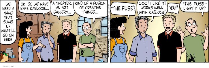 Comic Strip Greg Evans  Luann 2015-08-28 slogan