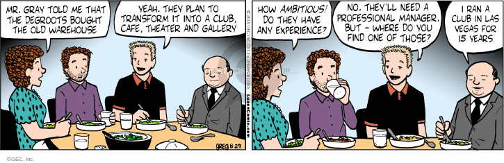 Comic Strip Greg Evans  Luann 2015-08-29 manager