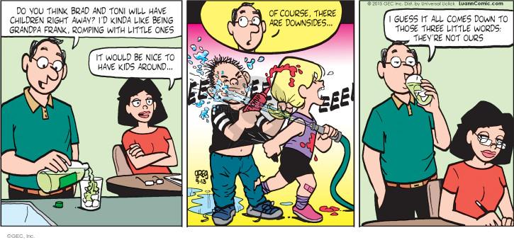 Comic Strip Greg Evans  Luann 2015-09-13 Brad