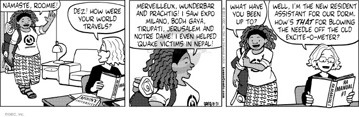 Comic Strip Greg Evans  Luann 2015-08-31 travel