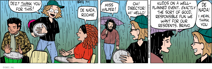Comic Strip Greg Evans  Luann 2015-09-11 planner