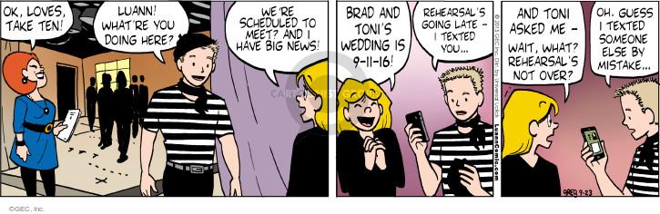 Comic Strip Greg Evans  Luann 2015-09-23 Brad
