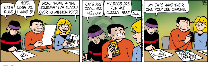 Comic Strip Greg Evans  Luann 2015-09-29 cat adoption