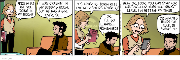 Comic Strip Greg Evans  Luann 2015-10-14 policy