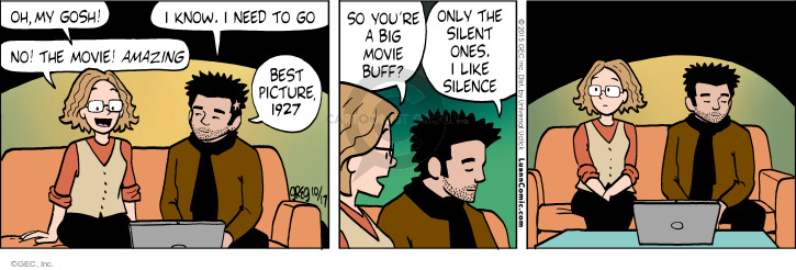 Comic Strip Greg Evans  Luann 2015-10-17 silent movie