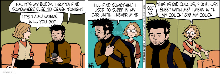 Cartoonist Greg Evans  Luann 2015-10-19 mind