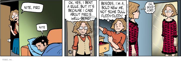 Comic Strip Greg Evans  Luann 2015-10-21 night