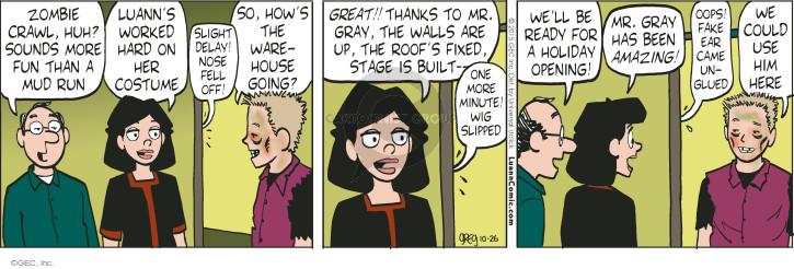 Comic Strip Greg Evans  Luann 2015-10-26 fall off