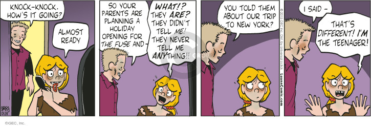Comic Strip Greg Evans  Luann 2015-10-28 young