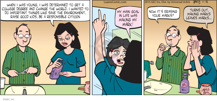 Comic Strip Greg Evans  Luann 2015-11-15 face