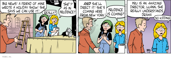 Comic Strip Greg Evans  Luann 2015-11-02 drama
