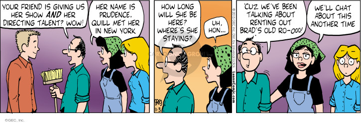 Comic Strip Greg Evans  Luann 2015-11-03 prudence