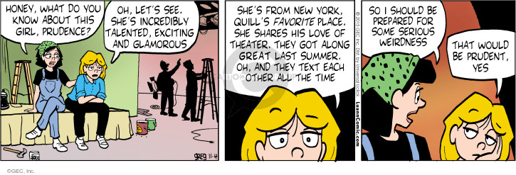 Comic Strip Greg Evans  Luann 2015-11-04 weird