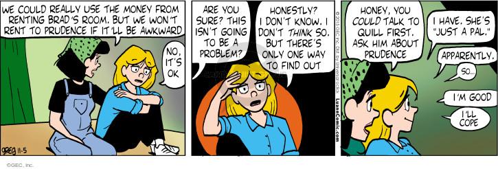 Comic Strip Greg Evans  Luann 2015-11-05 awkward