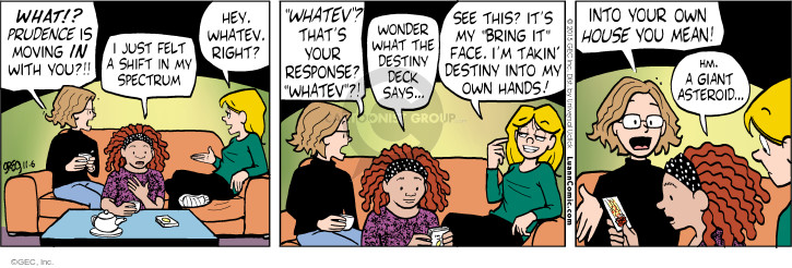 Comic Strip Greg Evans  Luann 2015-11-06 prudence