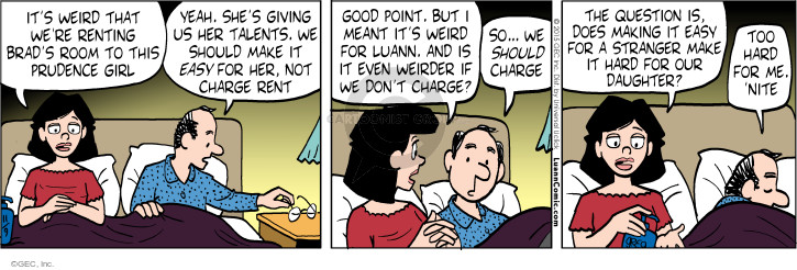 Comic Strip Greg Evans  Luann 2015-11-09 prudence
