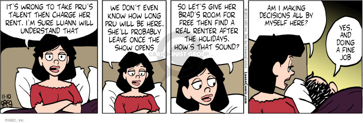 Comic Strip Greg Evans  Luann 2015-11-10 free