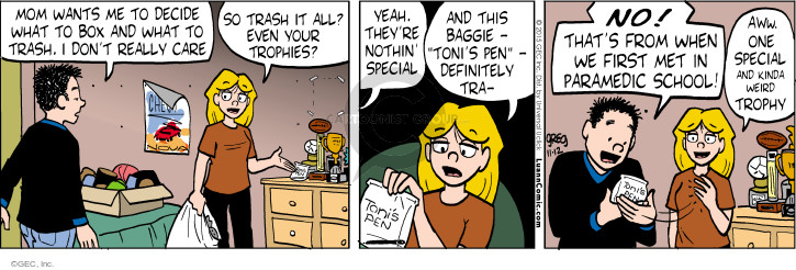 Comic Strip Greg Evans  Luann 2015-11-12 Toni