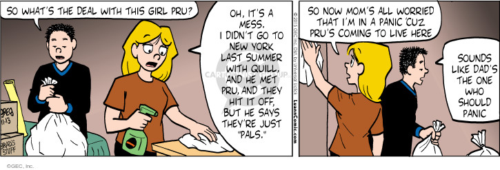 Comic Strip Greg Evans  Luann 2015-11-13 hit