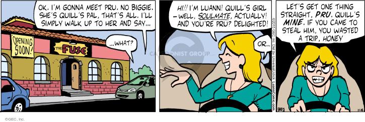 Comic Strip Greg Evans  Luann 2015-11-16 threaten