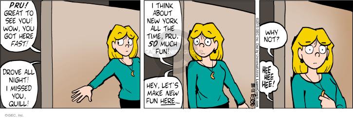 Comic Strip Greg Evans  Luann 2015-11-18 drive