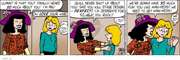 Comic Strip Greg Evans  Luann 2015-11-19 design