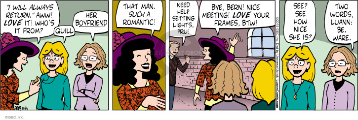 Comic Strip Greg Evans  Luann 2015-11-26 romantic