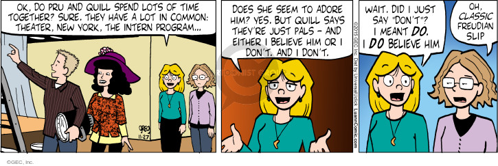 Comic Strip Greg Evans  Luann 2015-11-27 time