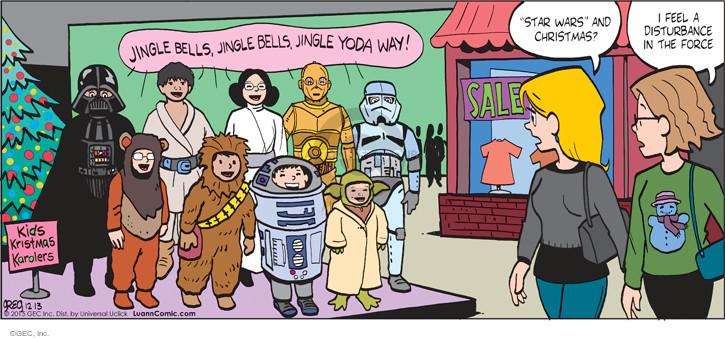 Comic Strip Greg Evans  Luann 2015-12-13 movie character