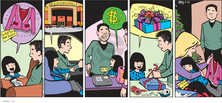 Comic Strip Greg Evans  Luann 2015-12-20 mall