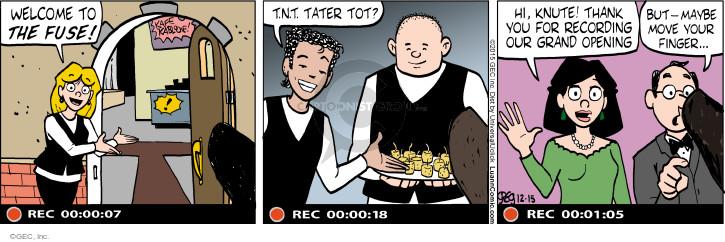 Comic Strip Greg Evans  Luann 2015-12-15 finger