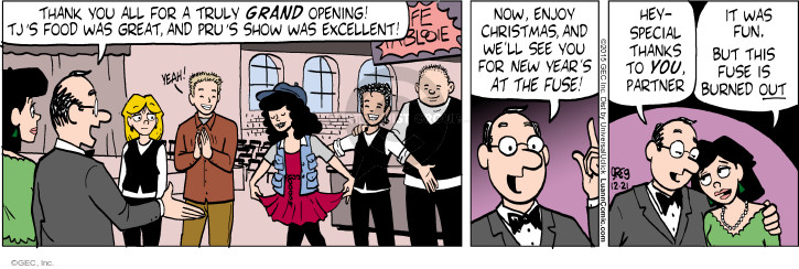 Comic Strip Greg Evans  Luann 2015-12-21 New Year