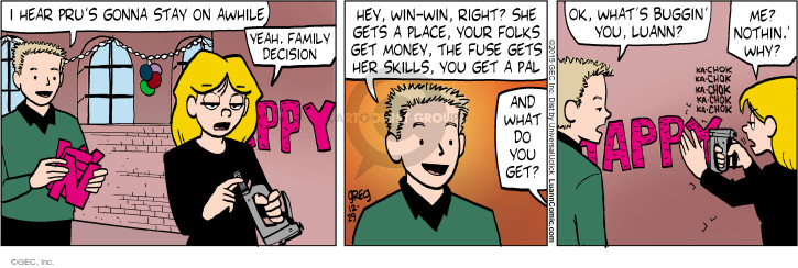 Comic Strip Greg Evans  Luann 2015-12-29 family