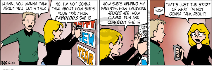 Comic Strip Greg Evans  Luann 2015-12-30 New Year