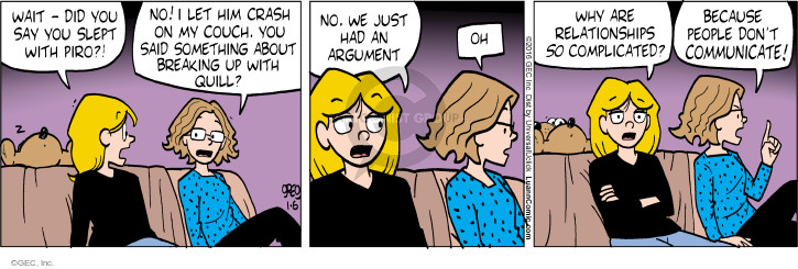 Comic Strip Greg Evans  Luann 2016-01-06 argument