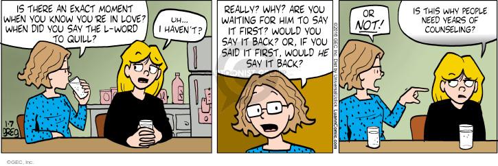 Cartoonist Greg Evans  Luann 2016-01-07 first date