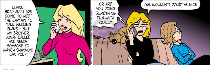 Comic Strip Greg Evans  Luann 2016-01-08 Brad