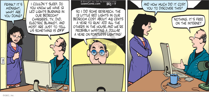 Comic Strip Greg Evans  Luann 2016-01-17 lead