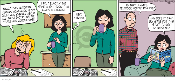 Comic Strip Greg Evans  Luann 2016-01-24 Europe history